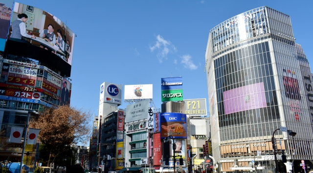 渋谷スクランブル交差点の画像